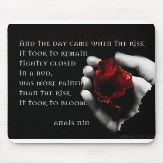 """and the day came"" photo mousepad with rose"