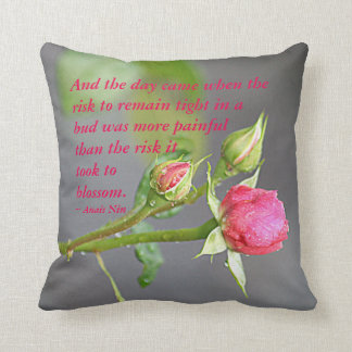 And the day came.... throw pillow