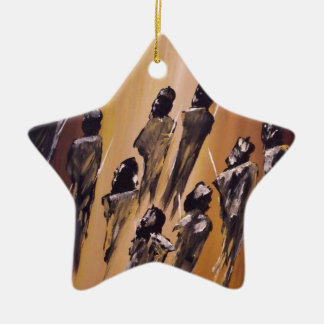 And The Earth Said Peace.JPG Ceramic Star Decoration
