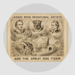 And The Great Dog Tiger, 'Leonzo Bros' Vintage The Round Stickers