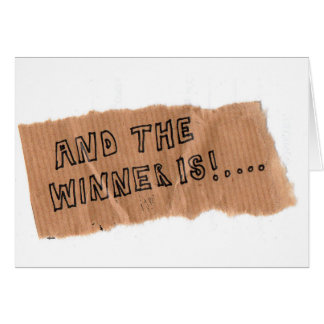 And the winner is greeting cards