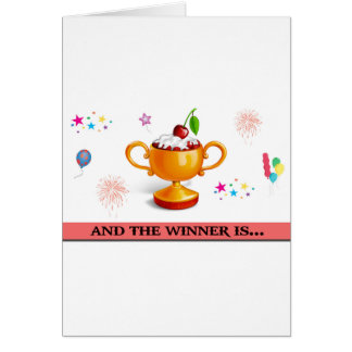 And the winner is dessert cup greeting card