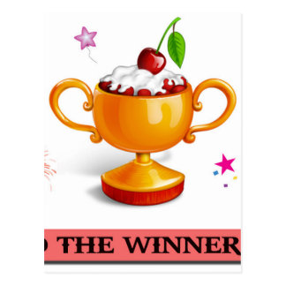 And the winner is dessert cup postcard