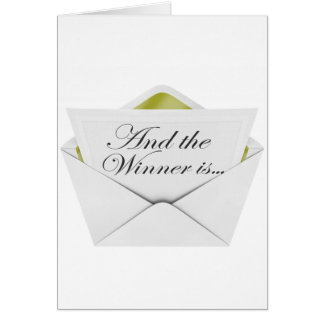 And the winner is envelope card