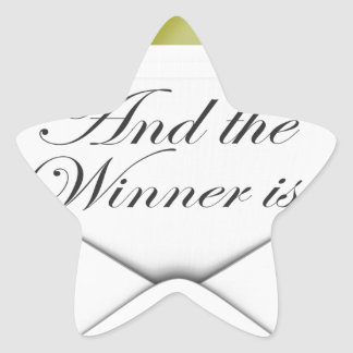 And the winner is envelope star sticker