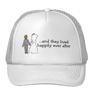 And They Lived Happily Ever After Bride and Groom Cap