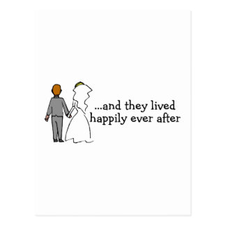 And They Lived Happily Ever After Bride and Groom Postcard