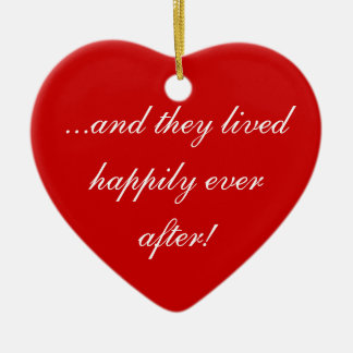 ...and they lived happily ever after! christmas ornament