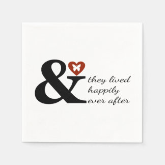 And They Lived Happily Ever After Disposable Napkin