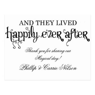 And they lived happily ever after postcard