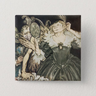 """""""And they, so perfect is their misery"""" 15 Cm Square Badge"""