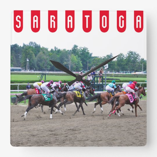 And They're off at Saratoga Square Wall Clock