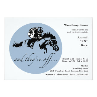 And They're Off Horse Racing Invitation