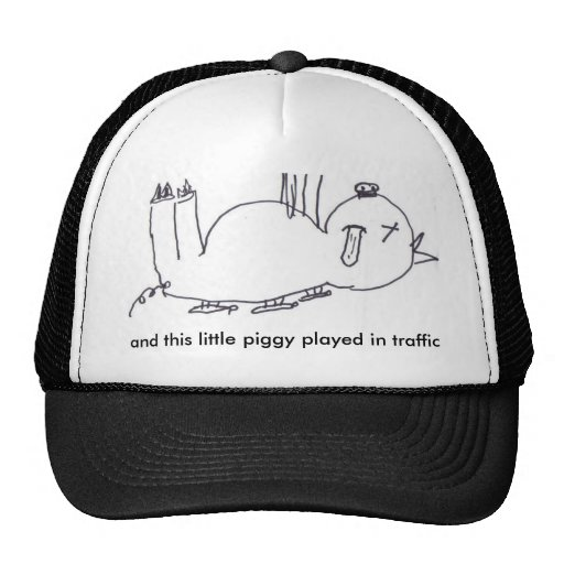 and this little piggy played in traffic mesh hats