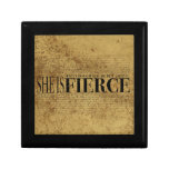 And though she be but little, she is fierce. small square gift box