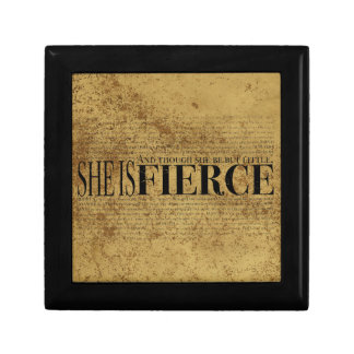 And though she be but little, she is fierce. gift box