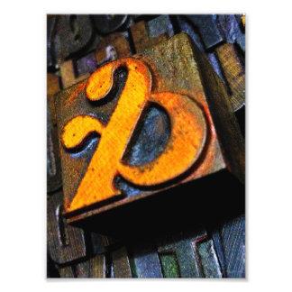 and… vintage letterpress ampersand type photo print