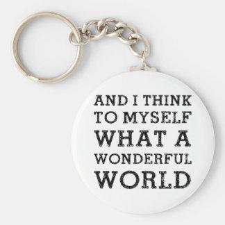And Wonderful World Key Ring