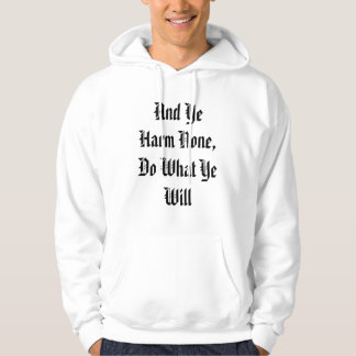 And Ye Harm None Pentacle Hoodie