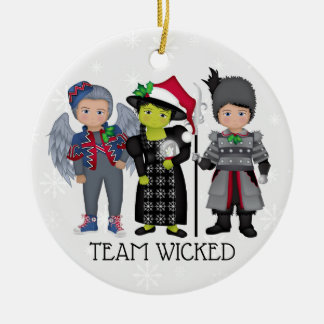 And Your Little Dog ToO!  Team Wicked Christmas Ornament