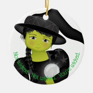 And Your Little Dog ToO!  Wicked With WWOO Christmas Ornament