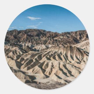 and zabriskie mointains Death valley california pa Round Sticker