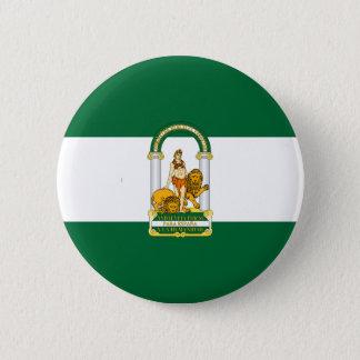 Andalucia (Spain) Flag 6 Cm Round Badge