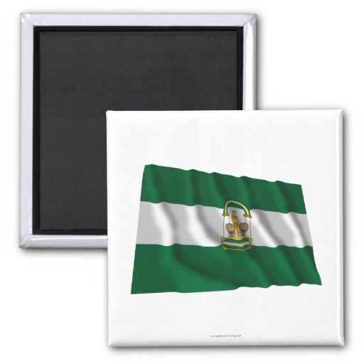 Andalucía waving flag square magnet