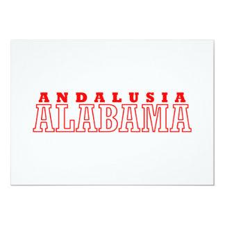 Andalusia, Alabama City Design 13 Cm X 18 Cm Invitation Card