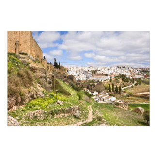 Andalusia Countryside and City of Ronda in Spain Photographic Print
