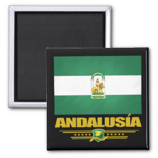 Andalusia Flag Square Magnet