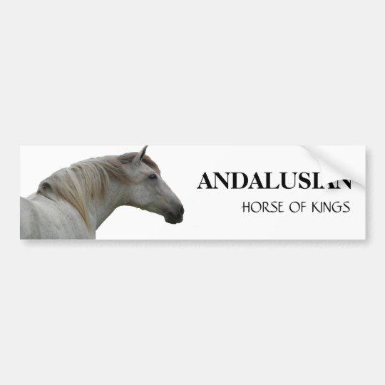 ANDALUSIAN HORSE 2 BUMPER STICKER