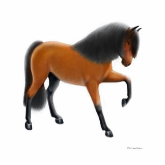 Andalusian Horse Holiday Ornament Standing Photo Sculpture