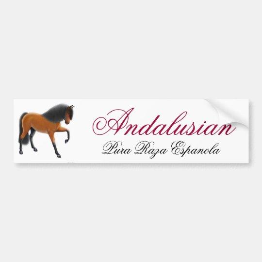 Andalusian Horse Pura Raza Espanola Bumper Sticker