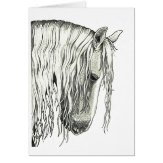 Andalusian True Romantic Horse Greeting Card