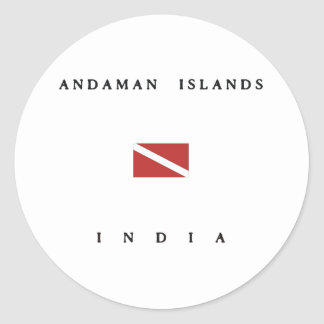 Andaman Islands India Scuba Dive Flag Classic Round Sticker