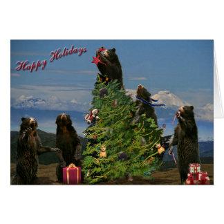 Andean Bear Holiday 2011 Greeting Card