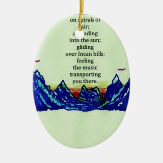 andean flutes christmas ornament