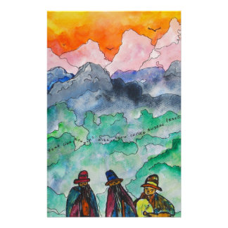 Andean Landscape Stationery