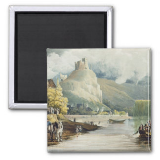Andely, from 'Views on the Seine', engraved by Tho Square Magnet
