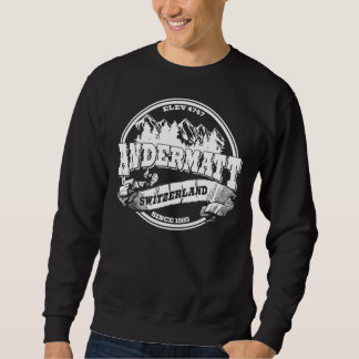 Andermatt Old Circle White Sweatshirt