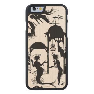 Andersen: Little Mermaid Silhouette Carved® Maple iPhone 6 Slim Case