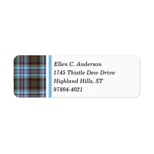 Anderson Clan Light Blue Scottish Tartan