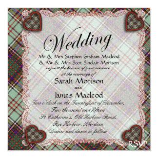 Anderson clan Plaid Scottish tartan Card