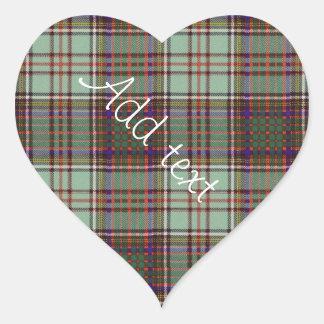 Anderson clan Plaid Scottish tartan Heart Sticker