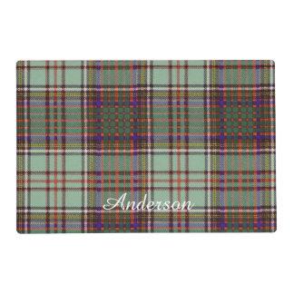 Anderson clan Plaid Scottish tartan Laminated Place Mat