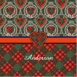Anderson clan Plaid Scottish tartan Photo Sculpture Badge