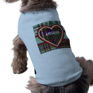 Anderson clan Plaid Scottish tartan Sleeveless Dog Shirt