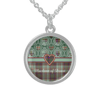 Anderson clan Plaid Scottish tartan Sterling Silver Necklace