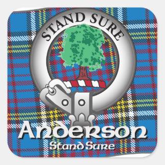 Anderson Clan Square Sticker